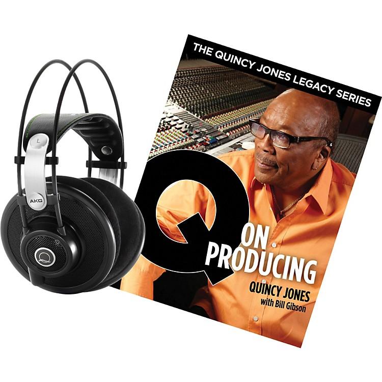 AKGQuincy Jones Q701 Headphones with Q on Producing BookBlack