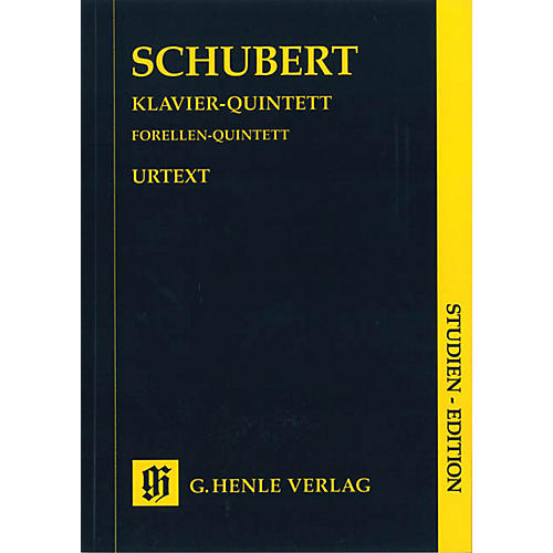 G. Henle Verlag Quintet A Major Op. Posth. 114 D 667 The Trout Henle Study Scores Series Softcover by Franz Schubert-thumbnail