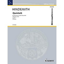 Schott Quintet No. 1 Fassung, Op. 30 (Set of Parts) Schott Series Composed by Paul Hindemith