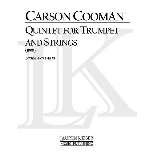 Lauren Keiser Music Publishing Quintet for Trumpet and Strings LKM Music Series Composed by Carson Cooman-thumbnail