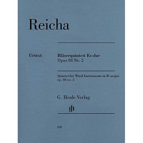 G. Henle Verlag Quintet for Wind Instruments in E-flat Major Op. 88 No. 2 Henle Music Softcover by Reicha Edited by Wiese-thumbnail