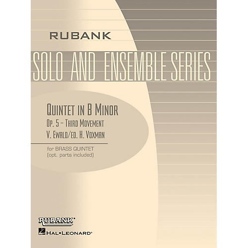 Rubank Publications Quintet in B Minor, Op. 5 - Third Movement (Brass Quintet - Grade 5) Rubank Solo/Ensemble Sheet Series-thumbnail