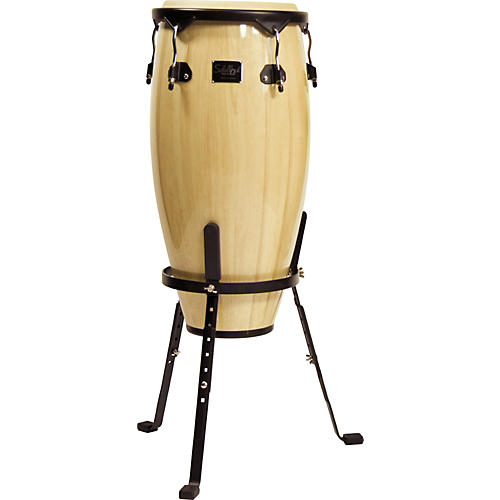 Schalloch Quinto Conga Drum with Stand Black Hardware Old