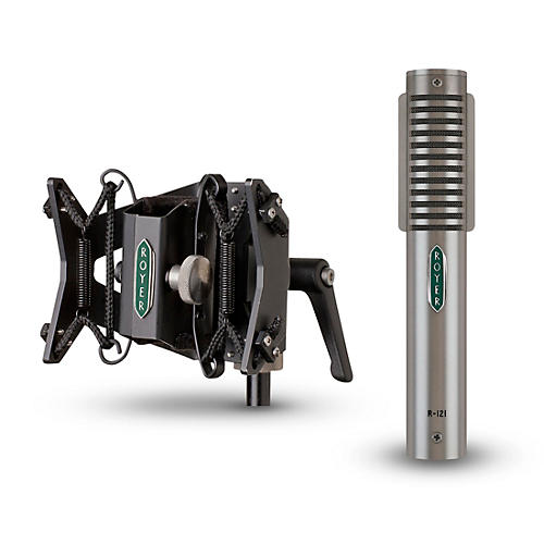 Royer R-121 Ribbon Microphone and RSM-SS1 Sling-Shock Shockmount-thumbnail