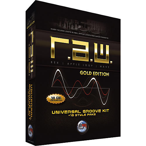 Sonic Reality R.A.W. Gold Edition Universal Groove Kit + 15 Style Paks-thumbnail
