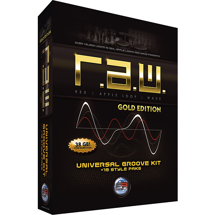 Sonic RealityR.A.W. Gold Edition Universal Groove Kit + 15 Style Paks
