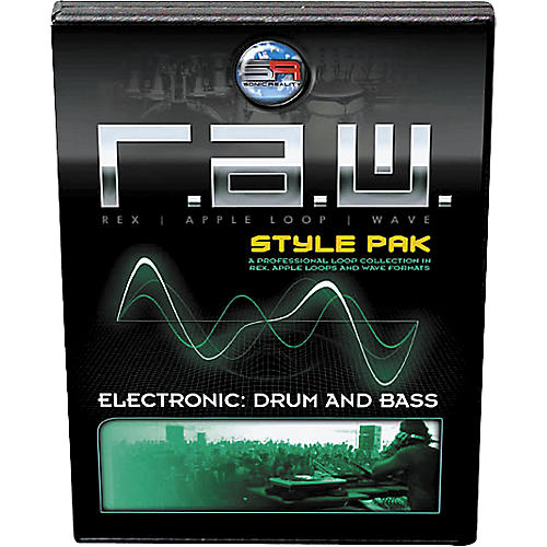 Sonic Reality R.A.W. Style Pak - Electronic: Drum and Bass Loops Collection Software