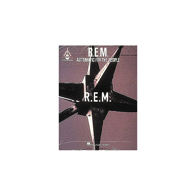 Hal Leonard R.E.M. Automatic for The People Guitar Tab Songbook
