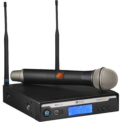 Electro-Voice R300 Handheld Wireless System in Case Band A (516-558 MHz)