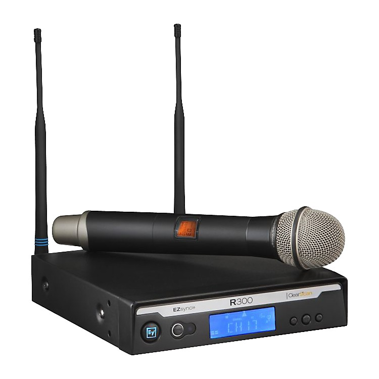 Electro-Voice R300 Handheld Wireless System in Case Ch B