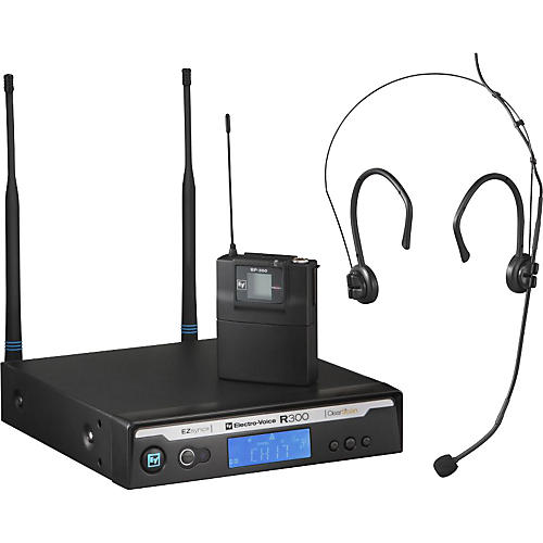 Electro-Voice R300 Headworn Wireless System in Case Band B