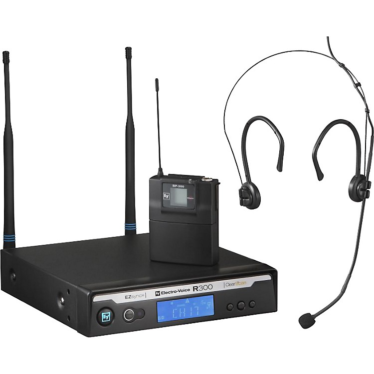 Electro-Voice R300 Headworn Wireless System in Case Ch A