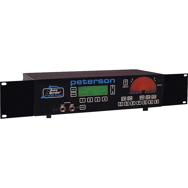 PetersonR490 8-Octave AutoStrobe Rackmount Tuner