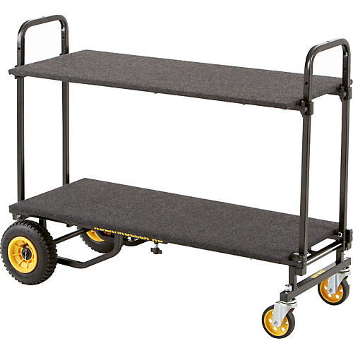 Rock N Roller R6 Mini Cart with Solid Deck and Carpeted Shelf