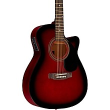 RA-090 Concert Cutaway Acoustic-Electric Guitar Red