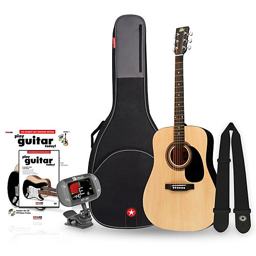 Rogue RA-090 Dreadnought Acoustic Guitar Bundle-thumbnail
