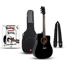 RA-090 Dreadnought Cutaway Acoustic-Electric Guitar Bundle Black