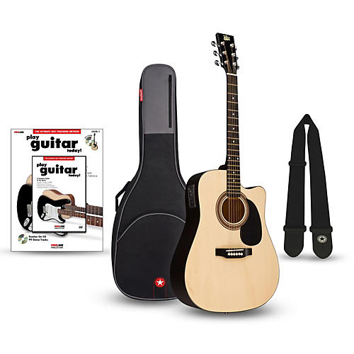 rogue ra 090 dreadnought cutaway acoustic electric guitar bundle musician 39 s friend. Black Bedroom Furniture Sets. Home Design Ideas