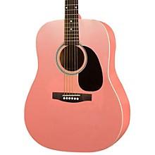 Rogue RA-100D Dreadnought Acoustic Guitar Pink
