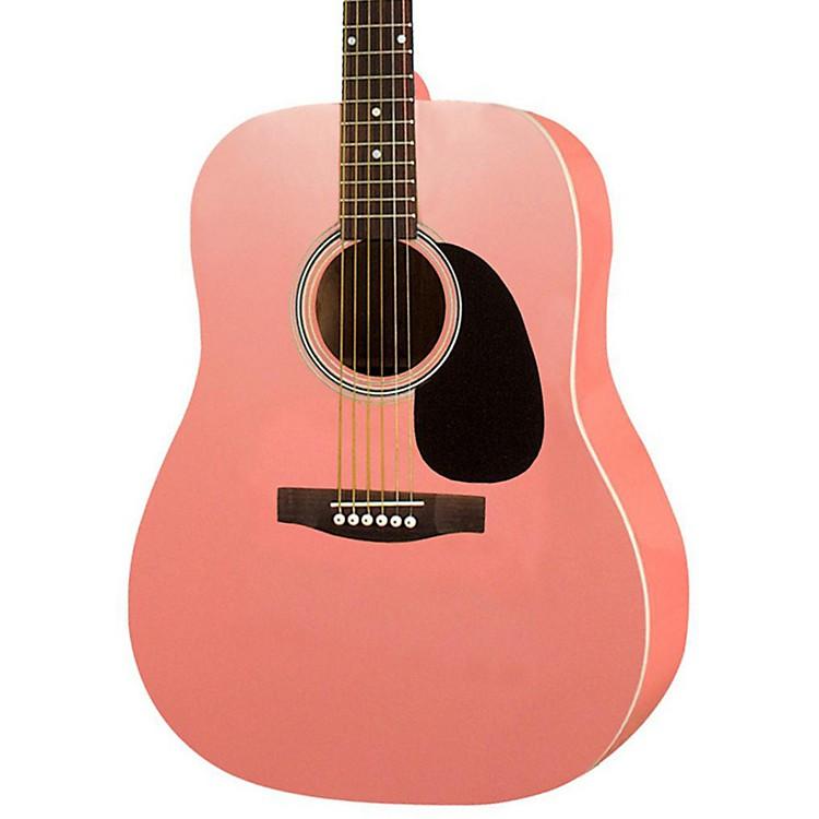 RogueRA-100D Dreadnought Acoustic GuitarPink