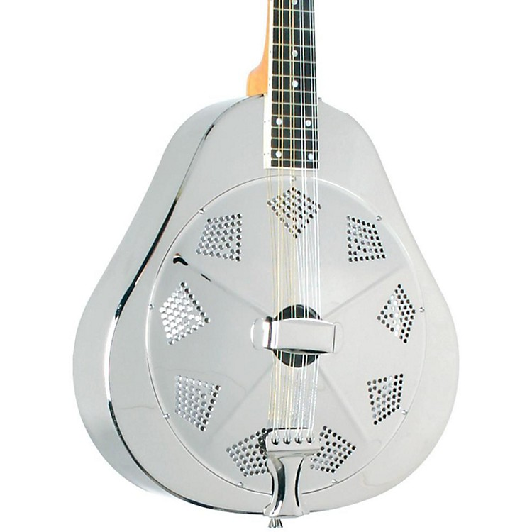Recording King RA-998 Metal Resonator Mandolin Nickel/Silver