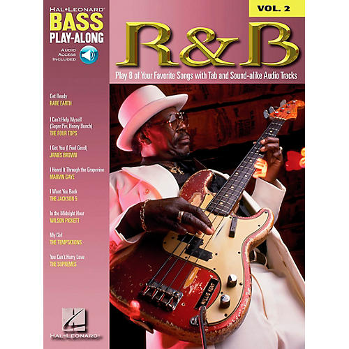 Hal Leonard R&B Bass Guitar Play-Along Series Book with CD
