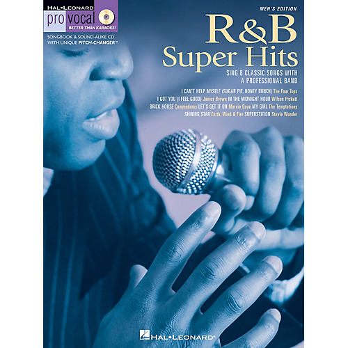 Hal Leonard R&B Super Hits (Pro Vocal Men's Edition Volume 6) Pro Vocal Series Softcover with CD-thumbnail