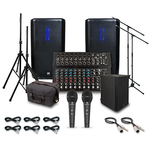 Peavey RBN 112 with RBN 215 Subwoofer PA System