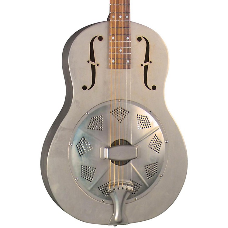 Regal RC-43 Antiqued Nickel-Plated Body Triolian Resonator Guitar Antique nickel-plated