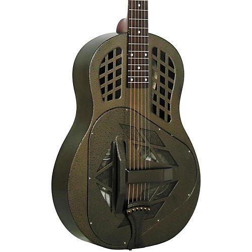 Regal RC-58 Tricone Metal Body Resonator Guitar Texas Tea Round Neck