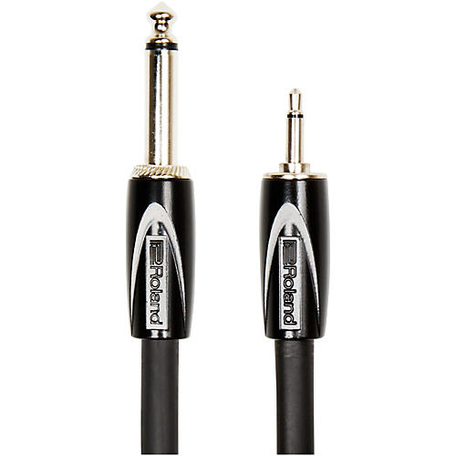 Roland RCC-3514 Black Series Interconnect Cable 3.5mm (Mono) to 1/4 in. (Mono)-thumbnail