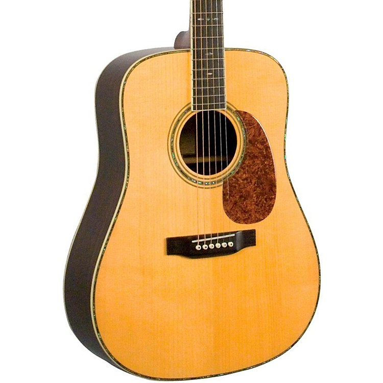 Recording King RD-327 All Solid Wood Dreadnought Acoustic Guitar Natural