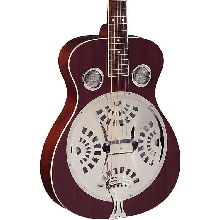 Regal RD-40 Resonator Natural Mahogany Round Neck