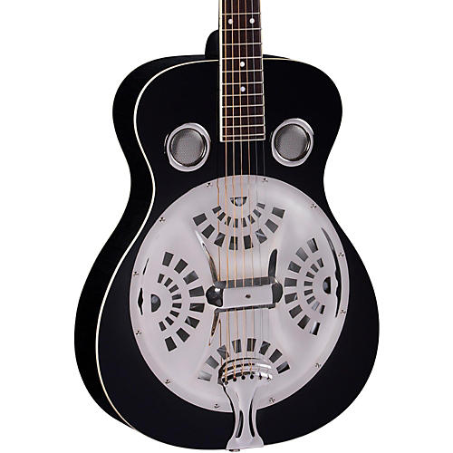 Regal RD-40 Round Neck Resonator Guitar Black