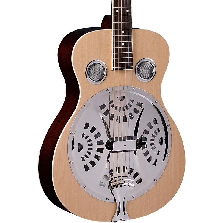 Regal RD-40 Round Neck Resonator Guitar Natural