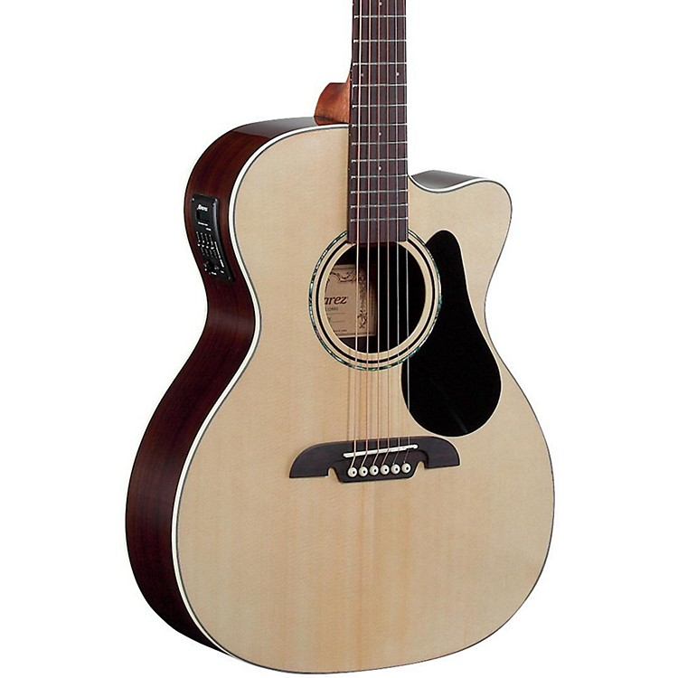 AlvarezRF27CE OM/Folk Acoustic-Electric GuitarNatural