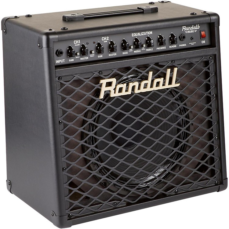Randall RG-80 80W Solid State Guitar Combo Black
