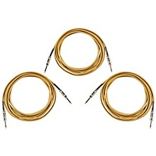 Musician's Gear ROC186 18.5 Foot Instrument Cable 3-Pack Black and Tweed 18.5 ft.