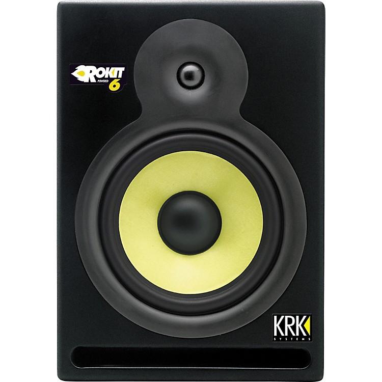 krk rp 6 rokit powered reference studio monitor musician 39 s friend. Black Bedroom Furniture Sets. Home Design Ideas