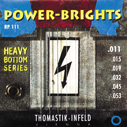Thomastik RP111 Power-Brights Heavy Bottom Medium Top Electric Guitar Strings