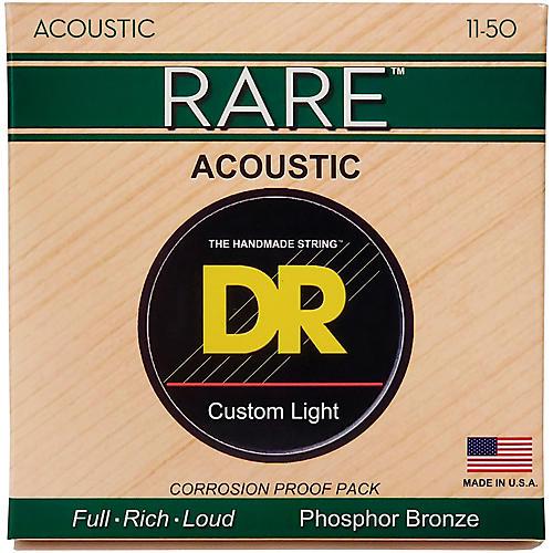 DR Strings RPML-11 Custom Light RARE Phosphor Bronze Acoustic Strings-thumbnail