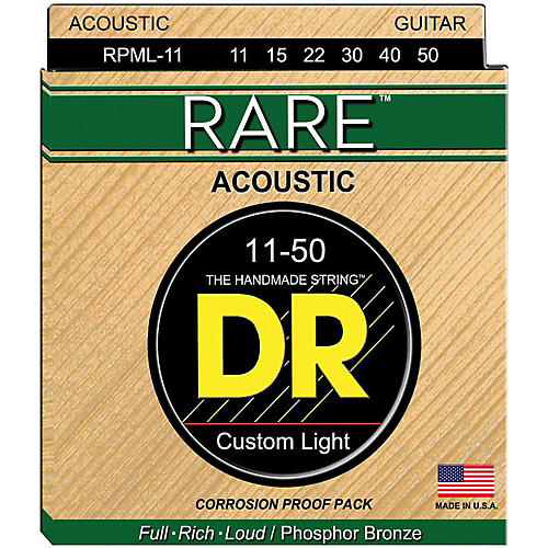 DR Strings RPML-11 Rare Phosphor Bronze Acoustic Guitar Strings