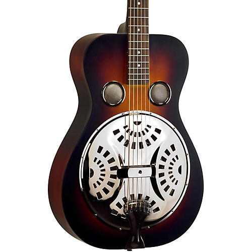 Recording King RR-55 Performer Roundneck Resonator Guitar Vintage Sunburst