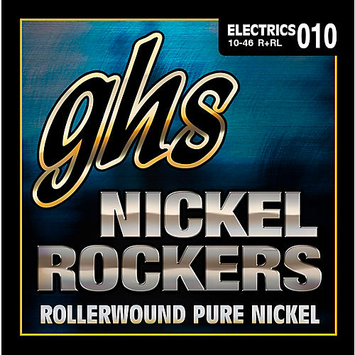 GHS R+RL Nickel Rockers Roundwound Light Electric Guitar Strings