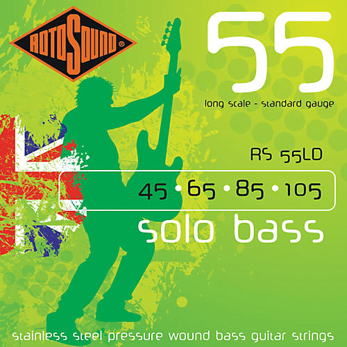 Rotosound RS55LD Solo Bass Stainless Steel Strings-thumbnail