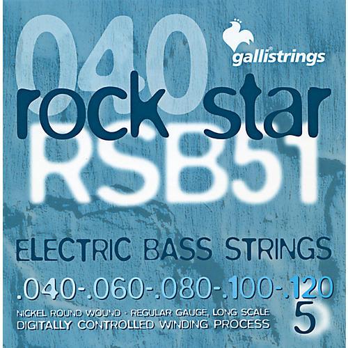 Galli Strings RSB51 ROCKSTAR 5-String Regular Bass Strings 40-120