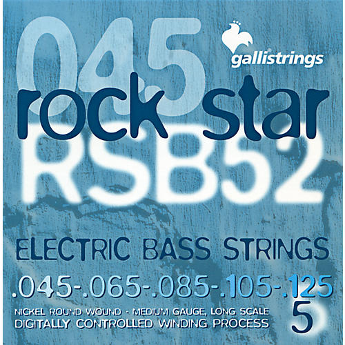 Galli Strings RSB52 ROCKSTAR 5-String Medium Bass Strings 45-125
