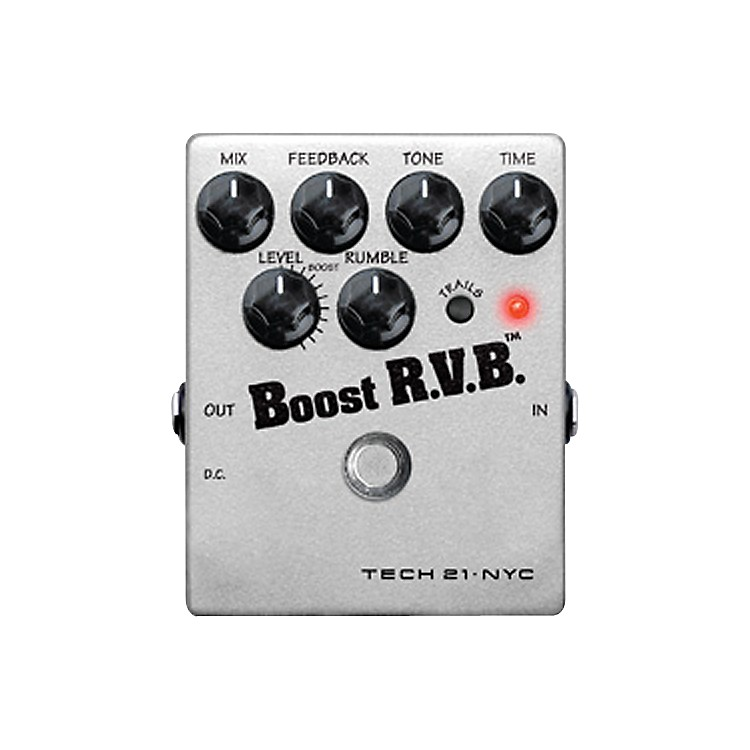 Tech 21 RVB-T Boost R.V.B. with Trails Analog Reverb Emulator Guitar Effects Pedal