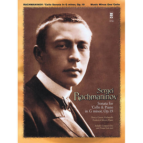 Music Minus One Rachmaninov - Sonata for Violoncello and Piano, Op. 19 Music Minus One Series Softcover with CD