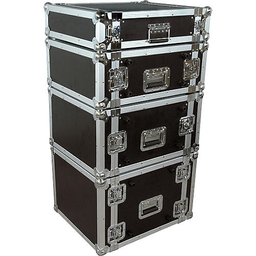 Musician's Gear Rack Flight Case 2 Space Black